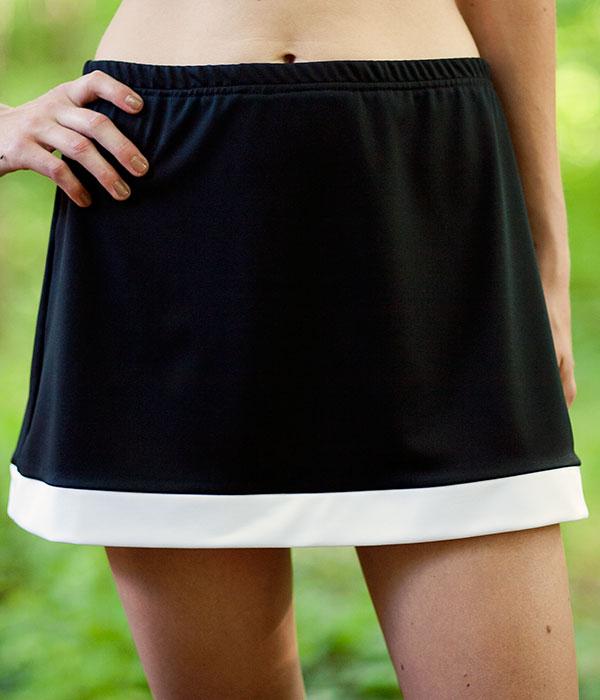 border tennis skirt no shorts