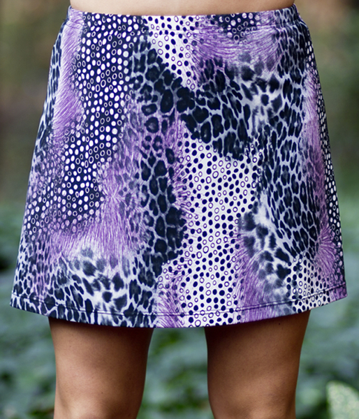 Animal Abstract A Line Tennis Skirt - No Shorts