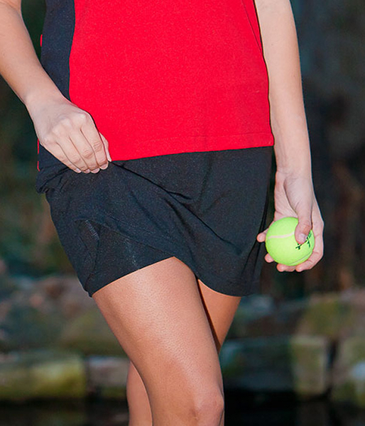 Essential Black A Line Tennis Skirts with Shorts - Available in Petite, Tall and Plus Sizes
