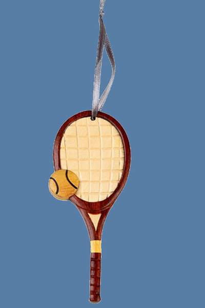 Handcrafted Vintage Tennis Racket Ornament | Tennis Christmas Ornaments