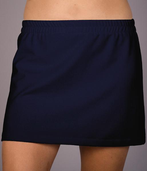 Navy A Line Tennis Skirt - No Shorts
