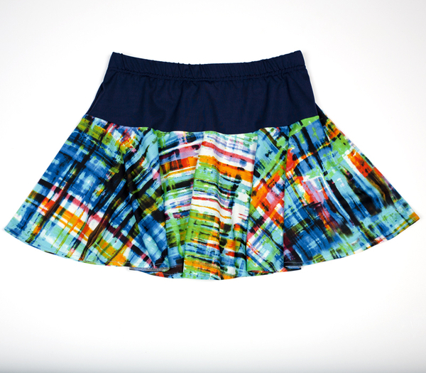 Custom Navy and Blues Flounce Tennis Skirt - With Shorts - Mahtomedi, MN   Custom Designs By Clients Like You!