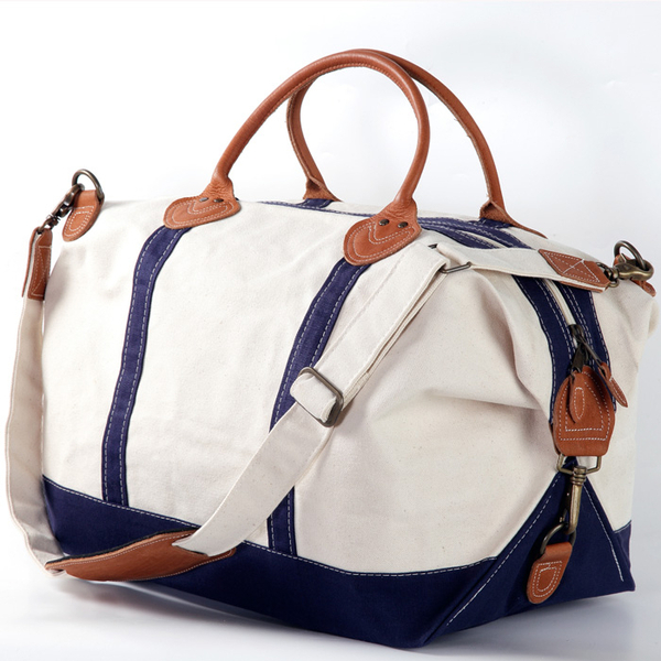Satchel Cotton Canvas Travel Or Gym Bag | Tennis Bags and More