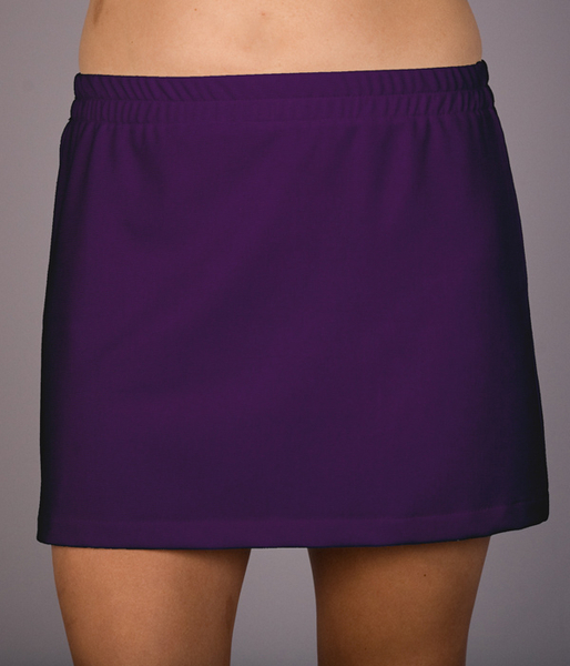 Deep Purple, Red or Royal A Line Tennis Skorts