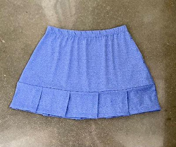 Size Large Plus - Blue Fusion Pleated Tennis Skirt with Left Pocket | Close Out Sale