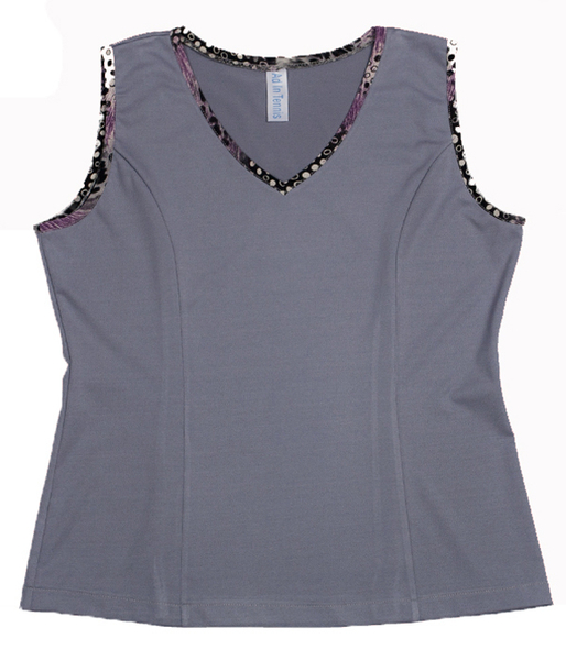 Pearl and Animal Abstract Tennis Top