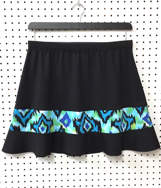 Blue Splash and Black Rally Ruffle Skirt With Shorts - SALE! | One Of A Kind Designs