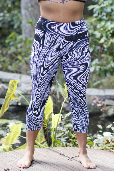 Asana Capris Featured in Luna from size Small to 3X