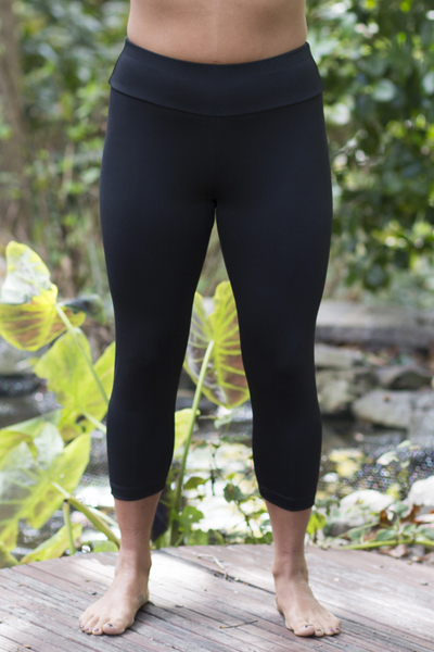 Asana Capris Featured in Black - New Design - from Petite to Plus Size
