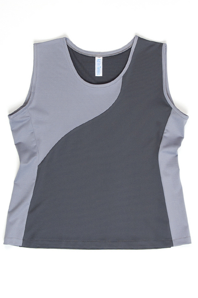Custom Pearl Gray and Charcoal Advantage Tennis Top - Prospect, IL | Custom Designs By Clients Like You!