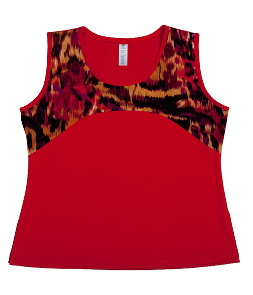 Custom Wildfire and Paprika Yoke Top -  Napa, California - SALE! | Custom Designs By Clients Like You!