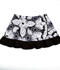 Image Custom Abstract and Black Ruffled Tennis Skirt with Shorts - Franklin, MA