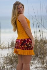 Image Size Large - Princess Tennis Top Featured in Amber and Wildfire
