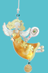 Image Amber Tennis Angel Christmas Ornament