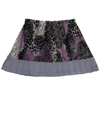 Image Size 2X - Wild Card Skirt in Pearl and Animal Abstract With Shorts