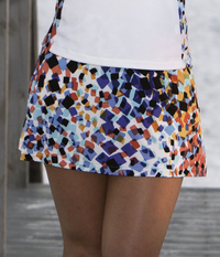 Image A Line Tennis Skirt featured in Astana Blue - No Shorts