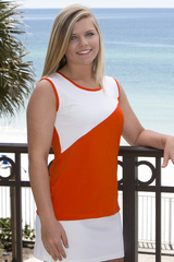 Diagonal Tennis Top With Side Vents