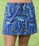 Aztec Blue A Line Tennis Skirt With Built In Compression Shorts