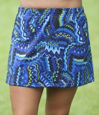 Size Medium - Aztec Blue A Line Skirt - No Shorts