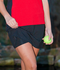 Image a Classic A Line Tennis Skirt With Shorts/Skort Featured in Black