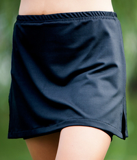 Image a Free to Move Tennis Skirt with Shorts featured in Performance Black