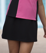 Black Dry Line Wick Away A Line Tennis Skirt - Without Shorts