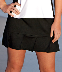 Image A Pleated Tennis Skirt with Shorts in Performance Black