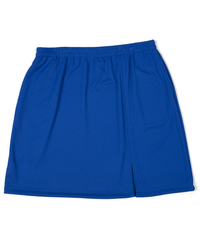 Size 1X - Sassy Slit Tennis Skirt Featured in Textured Royal - No Shorts