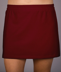 Image A Line Tennis Skirt Featured in Brick Red Dry Line Wick-No Shorts New Low Price!