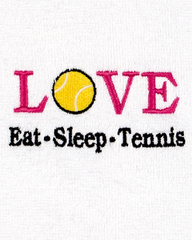 Image Eat, Sleep, Tennis Towel - Only 2 Left!