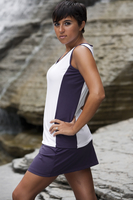 Aubergine Edge Tennis Top