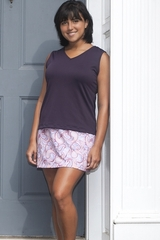 Soft Eggplant or Lightweight Magenta V Neck Tennis and ActiveWear Top