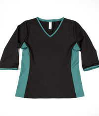 Image Custom Deep Emerald Green and Black Edge Top   Elbow Sleeves - Lakewood, NJ Sale