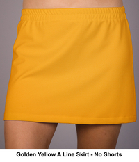 Size 2X - A Line Tennis Skirt Featured in Golden Yellow - No Shorts