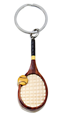 Image Handcrafted vintage tennis racket key chain - only 1 left!