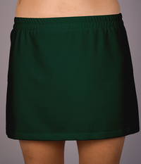 Image Size Large - Hunter Green A Line Tennis Skirt w/Attached Shorts - Extra Length!