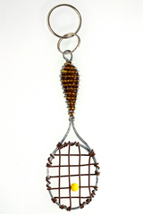 Bronze Tennis Racket Key Chain