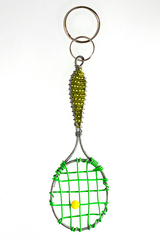Image Lime Green Tennis Racket Key Chain - 1 left in stock!