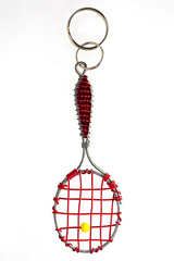 Image Red Tennis Racket Key Chain - 1 left in stock!