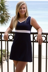 Image The Match Point Tennis Dress - Sold Out of Navy, Custom Fabrics Available
