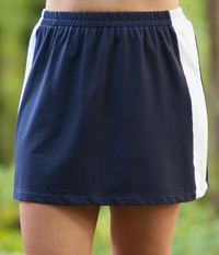 Color Block Tennis Skirt with Built In Compression Shorts