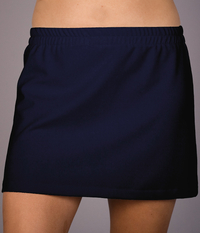 Image Size Small - A Line Tennis Skirt With Shorts/Skort Featured in Navy Wick