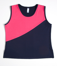Image Custom Navy and Pink Diagonal Tennis Top - Woodstock, GA