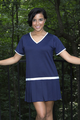 Image Size Medium - Vintage Pleated Tennis Dress - Sleeveless