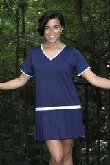 Image Size Medium - Vintage Pleated Tennis Dress - Sleeveless