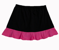 Image Custom Neon Pink and Black Ruffled Tennis Skirt With Shorts - Ohio