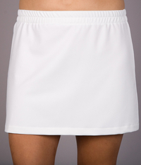 Image a Classic A Line Tennis Skirt With Shorts/Skort Featured in White or Navy