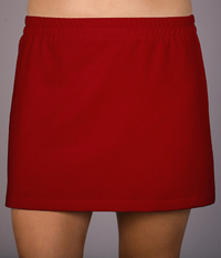Image A Line Tennis Skirt Featured in Red or White - No Shorts