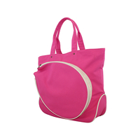 Image Pink Cotton Canvas Tennis Bag With Natural Trim - Gift with Purchase!