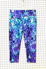 Image Custom Asana Capri Pants Featured in Watercolor